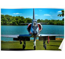 Marines A4L Skyhawk at the Golf Course Poster