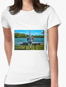 Marines A4L Skyhawk at the Golf Course Womens Fitted T-Shirt