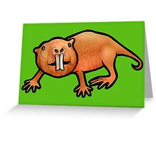 Naked Mole Rat Greeting Card