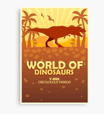 World of dinosaurs. Prehistoric world. T-rex Canvas Print