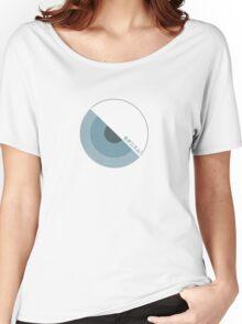 """""""modernism!"""" Blue Women's Relaxed Fit T-Shirt"""