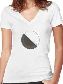 """modernism!""  black Women's Fitted V-Neck T-Shirt"