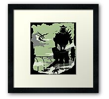 Silhouette of the Colossus Framed Print