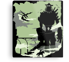 Silhouette of the Colossus Metal Print