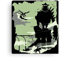 Silhouette of the Colossus Canvas Print