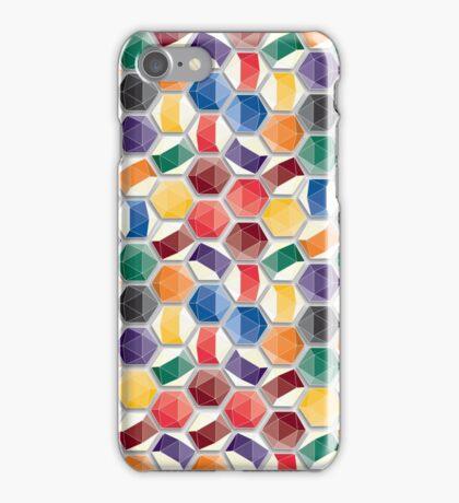 geometric billiard ball pattern iPhone Case/Skin
