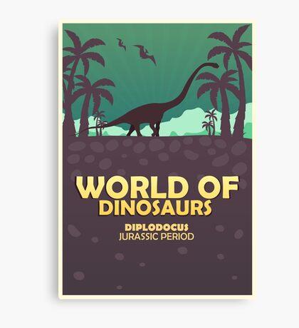 World of dinosaurs. Prehistoric world. Diplodocus Canvas Print