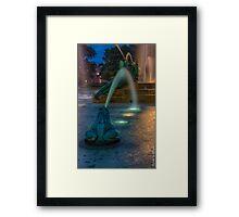 Swann Fountain Framed Print