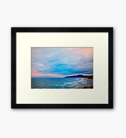 Newport Oregon - Whispering Framed Print