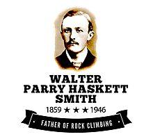 Rock Climbing Walter Smith Father Rock Climbing Photographic Print