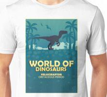 World of dinosaurs. Prehistoric world. Velociraptor Unisex T-Shirt