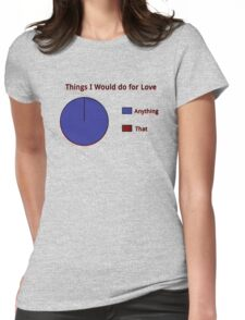 I'd do Anything! Womens Fitted T-Shirt