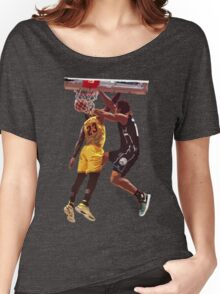 Malcolm Brogdon Dunk on LeBron James Women's Relaxed Fit T-Shirt