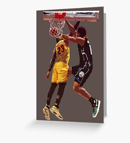 Malcolm Brogdon Dunk on LeBron James Greeting Card