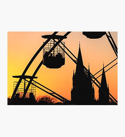 Ferris Wheel at Sunset Photographic Print