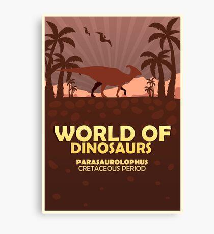 World of dinosaurs. Prehistoric world. Parasaurolophus Canvas Print