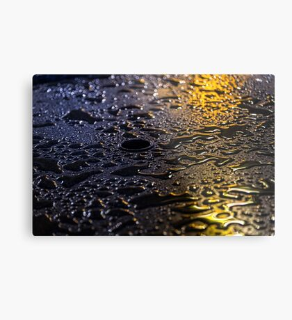 Rain Drops in Color Metal Print
