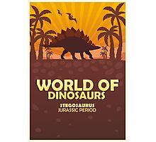 World of dinosaurs. Prehistoric world. Stegosaurus Photographic Print