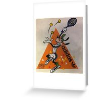 Goofy plays tennis Greeting Card