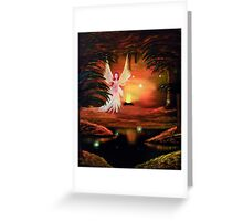Wings to a flame: Autumn fairies Greeting Card
