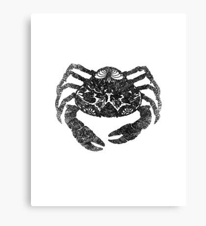 Crab, Digital Drawing, Blck and White, 2017 Canvas Print