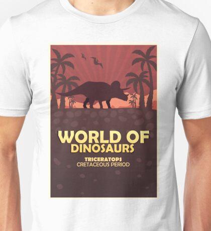 Poster World of dinosaurs. Prehistoric world. Triceratops Unisex T-Shirt
