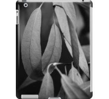 Willow Leaves in Black & White iPad Case/Skin