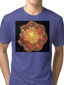 Orange Blossom Flower Tri-blend T-Shirt