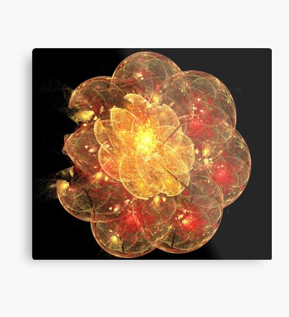 Orange Blossom Flower Metal Print