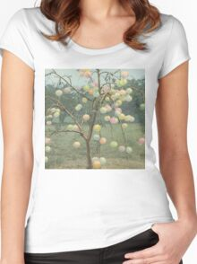 Psychedelic Grapefruit Tree Women's Fitted Scoop T-Shirt