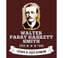 Walter Smith Father Rock Climbing Photographic Print