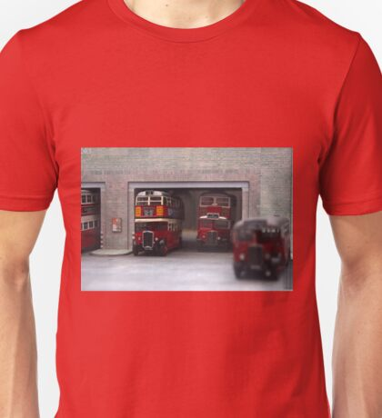 London Bus Station Unisex T-Shirt