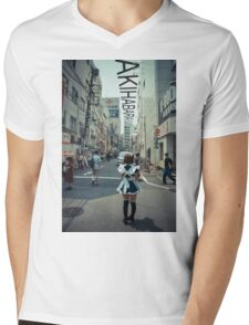 Akihabara - Electric Town Mens V-Neck T-Shirt