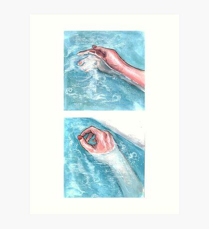 Hands in Water Art Print