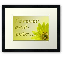Yellow Daisy Dahlia flower. Framed Print