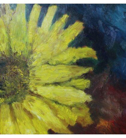 Sunflower Oil Painting Sticker