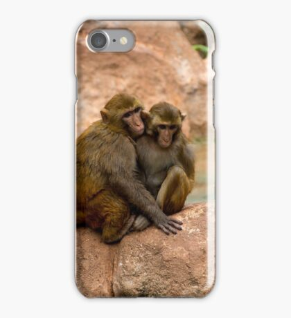 Monkey happy family  iPhone Case/Skin