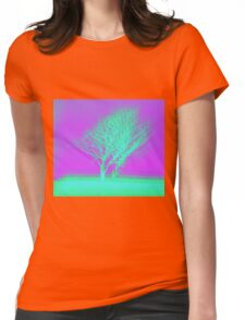 Vaporwave Tree Womens Fitted T-Shirt
