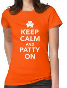 Keep calm and patty on Womens Fitted T-Shirt