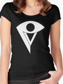 P V Logo Women's Fitted Scoop T-Shirt