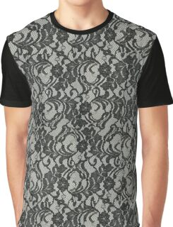 Black Lace Graphic T-Shirt