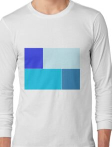 Four shades of blue  Long Sleeve T-Shirt