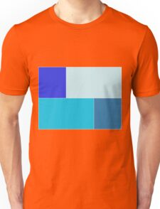 Four shades of blue  Unisex T-Shirt
