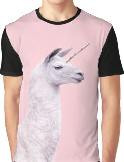 UNICORN LAMA Graphic T-Shirt