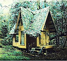 Hut In The Forest Photographic Print