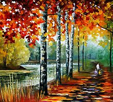 By The Lake — Buy Now Link - www.etsy.com/listing/207879964 by Leonid  Afremov