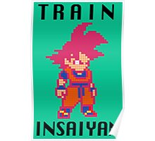 Train Insaiyan Super Saiyan God Goku (Black) Poster
