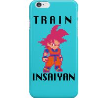 Train Insaiyan Super Saiyan God Goku (Black) iPhone Case/Skin