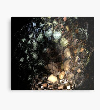Egg Spiral Metal Print