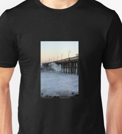 Ventura Ocean Wave Storm Pier Unisex T-Shirt